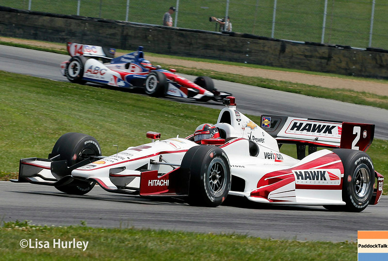 August 1: Takuma Sato and Juan Montoya at The Honda Indy 200 at Mid-Ohio.