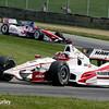 August 1: Takuma Sato and Juan Montoya at The Honda Indy 200 at Mid-Ohio.