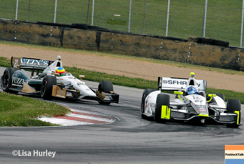 August 1: Mike Conway and Josef Newgarden at The Honda Indy 200 at Mid-Ohio.