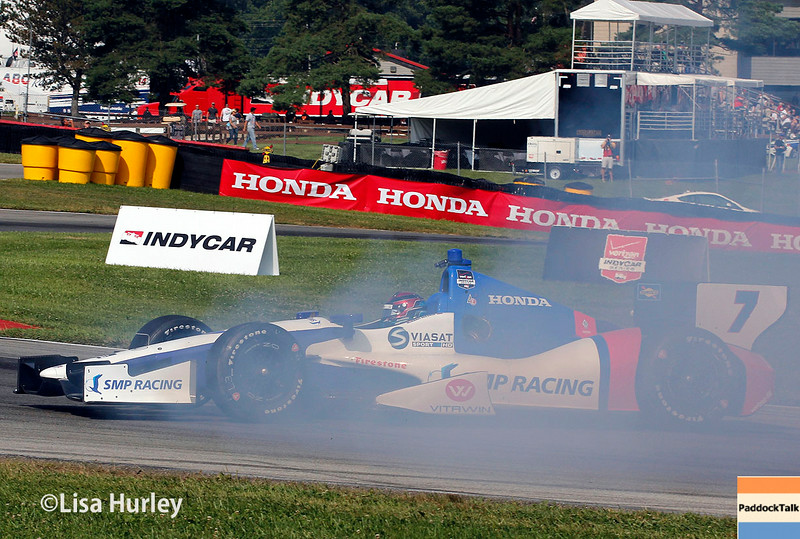 August 2: Mikhail Aleshin at The Honda Indy 200 at Mid-Ohio.