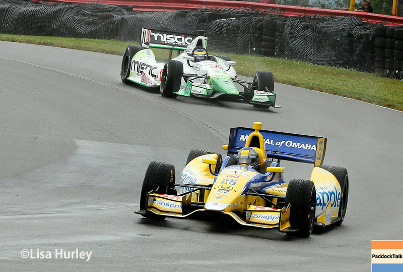 August 2: Sebastien Bourdais and Marco Andretti at The Honda Indy 200 at Mid-Ohio.