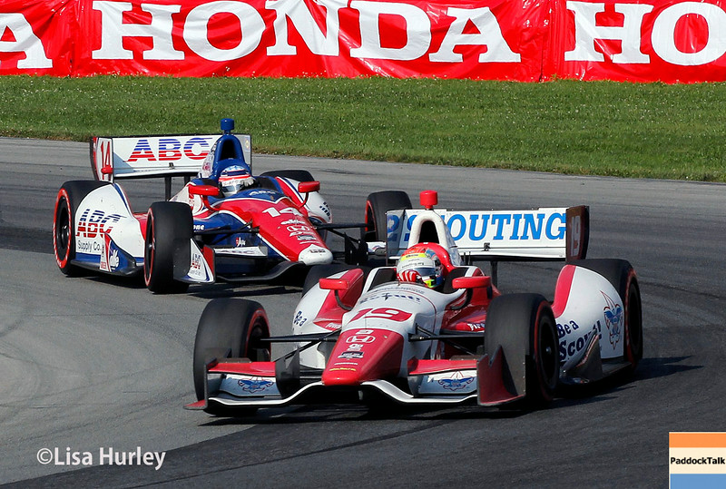 August 3: Justin Wilson and Takuma Sato at The Honda Indy 200 at Mid-Ohio.