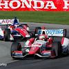 August 3: Justin Wilson and Takuma Sato at The Honda Indy 200 at Mid-Ohio.