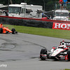 August 2: Simon Pagenaud and Helio Castroneves at The Honda Indy 200 at Mid-Ohio.