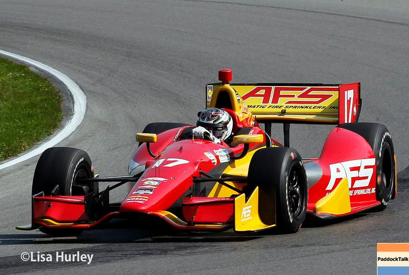August 2: Sebastian Saavedra at The Honda Indy 200 at Mid-Ohio.