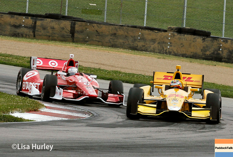 August 1: Scott Dixon and Ryan Hunter-Reay at The Honda Indy 200 at Mid-Ohio.