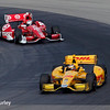August 2: Scott Dixon and Ryan Hunter-Reay at The Honda Indy 200 at Mid-Ohio.