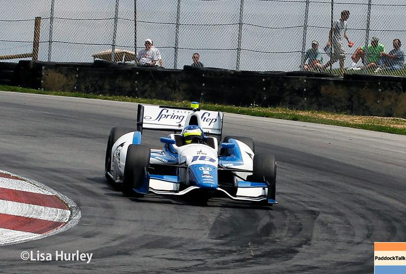 August 1: Carlos Huertas at The Honda Indy 200 at Mid-Ohio.