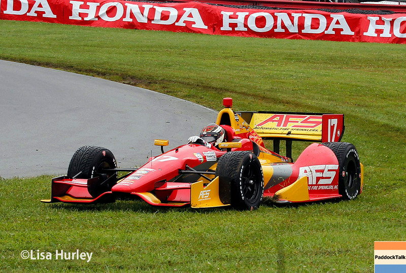 August 2: Sebastian Saavedra at The Honda Indy 200 at Mid-Ohio.