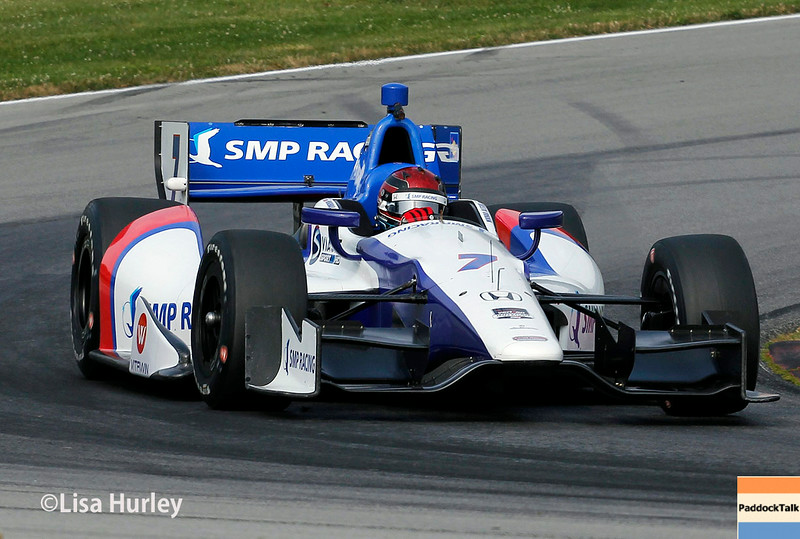 August 2: Mikhail Aleshin at The Honda Indy 200 at Mid-Ohio.