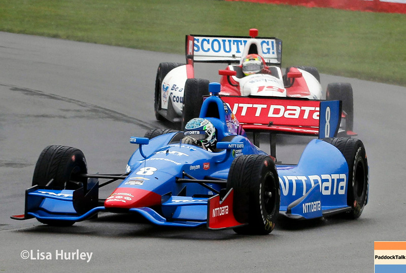 August 2: Justin Wilson and Ryan Briscoe at The Honda Indy 200 at Mid-Ohio.