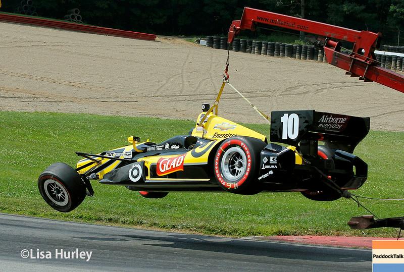 August 3: Tony Kanaan's car at The Honda Indy 200 at Mid-Ohio.