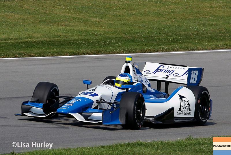 August 2: Carlos Huertas at The Honda Indy 200 at Mid-Ohio.