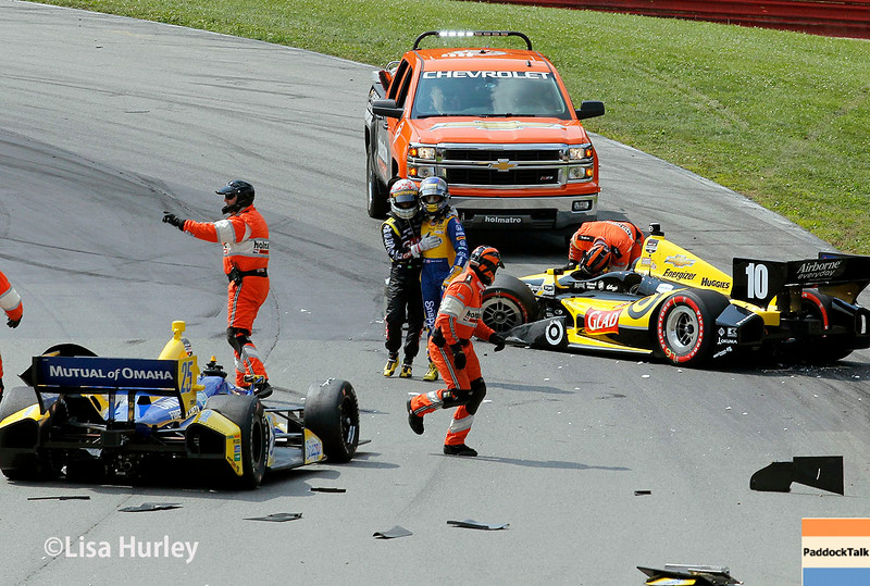 August 3: The Holmaltro Safety Team at The Honda Indy 200 at Mid-Ohio.