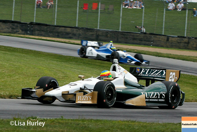 August 1: Carlos Huertas and Mike Conway at The Honda Indy 200 at Mid-Ohio.