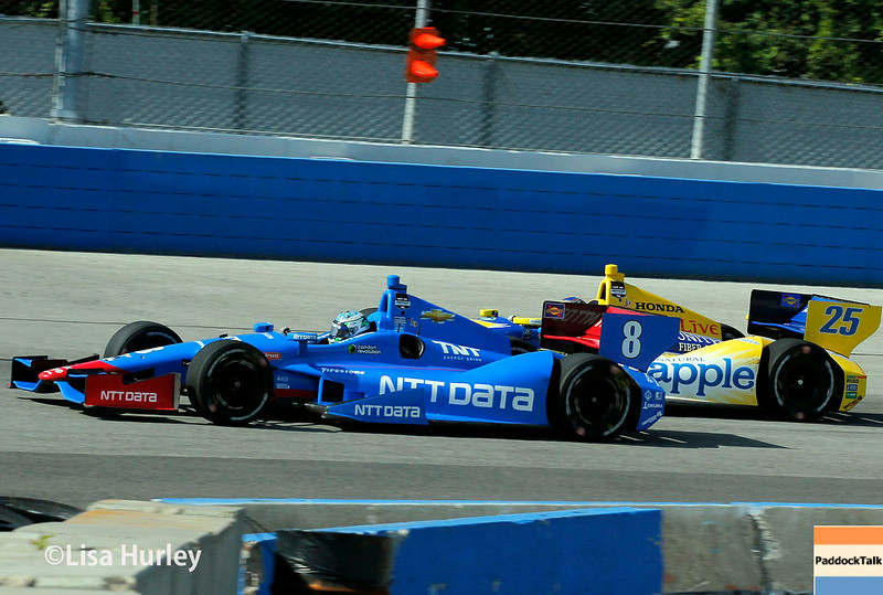 August 17: Ryan Briscoe and Marco Andretti at the Wisconsin 250 at Milwaukee Indyfest.