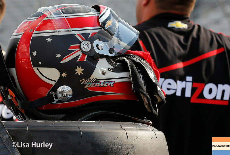 August 16: Will Power's helmet at the Wisconsin 250 at Milwaukee Indyfest.