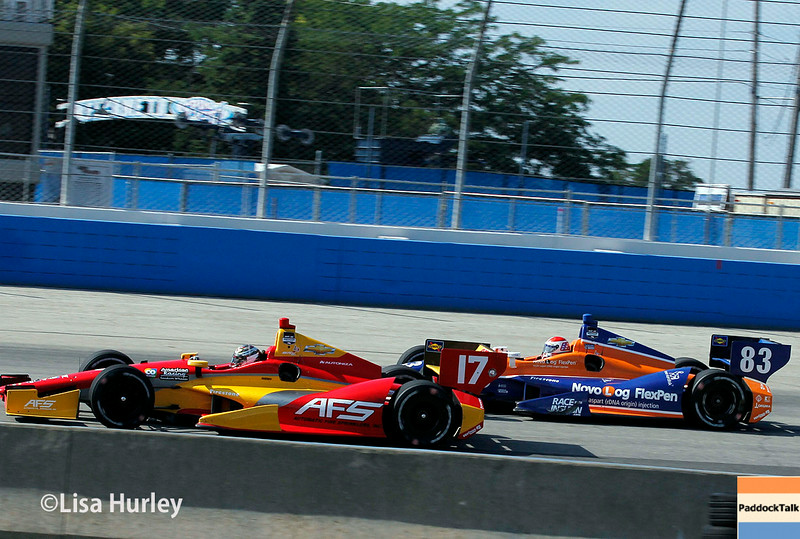 August 17: Sebastian Saavedra and Charlie Kimball at the Wisconsin 250 at Milwaukee Indyfest.