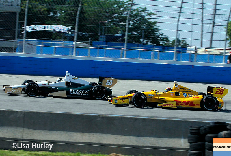 August 17: Ed Carpenter and Ryan Hunter-Reay at the Wisconsin 250 at Milwaukee Indyfest.