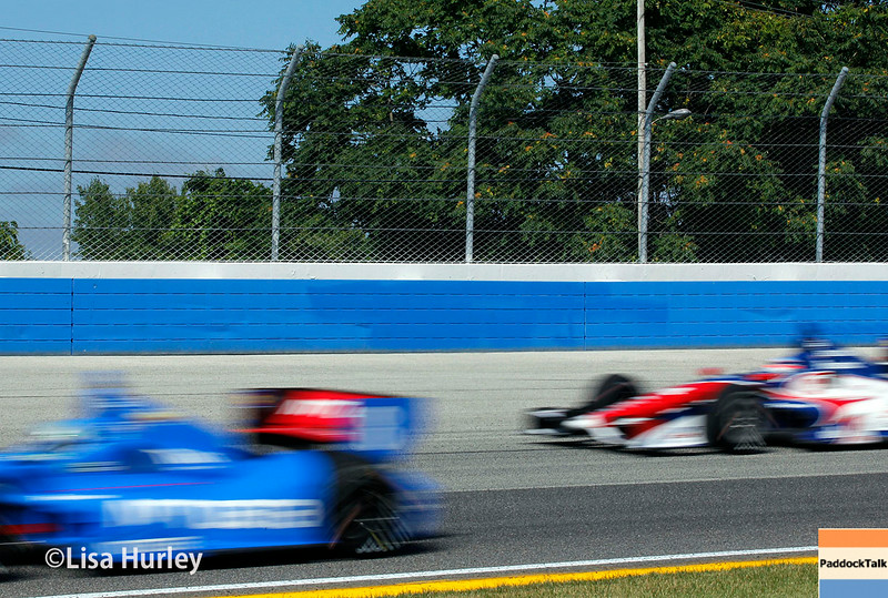 August 17: Ryan Briscoe and Takuma Sato at the Wisconsin 250 at Milwaukee Indyfest.