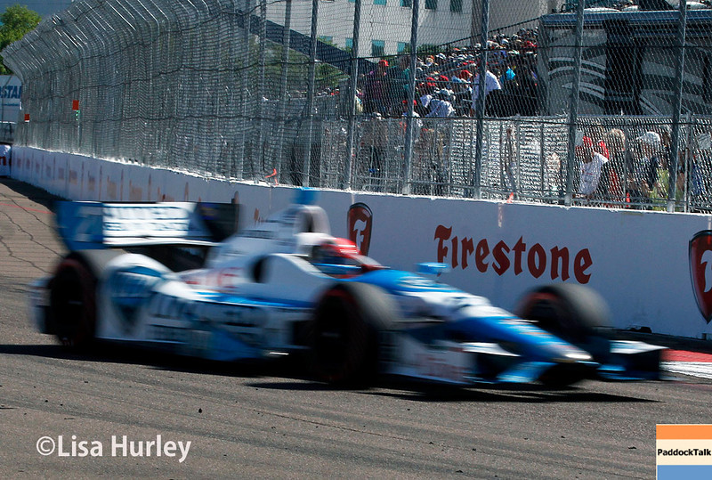 March 30: James Hinchcliffe during the Firestone Grand Prix of St. Petersburg Verizon IndyCar series race.