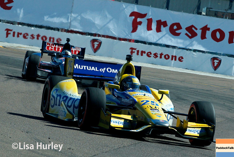 March 30: Marco Andretti and Graham Rahal during the Firestone Grand Prix of St. Petersburg Verizon IndyCar series race.