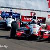 March 30: Juan Montoya and Mikhail Aleshin during the Firestone Grand Prix of St. Petersburg Verizon IndyCar series race.