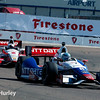 March 30: Ryan Briscoe and Juan Montoya during the Firestone Grand Prix of St. Petersburg Verizon IndyCar series race.