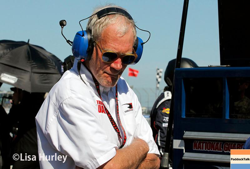 March 30: David Letterman during the Firestone Grand Prix of St. Petersburg Verizon IndyCar series race.