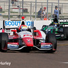 March 28:  Track action during Verizon IndyCar series practice for the Firestone Grand Prix of St. Petersburg.