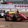 March 30: Sebastian Saavedra and Will Power during the Firestone Grand Prix of St. Petersburg Verizon IndyCar series race.