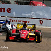 March 30: Sebastian Saavedra and Mikhail Aleshin during the Firestone Grand Prix of St. Petersburg Verizon IndyCar series race.