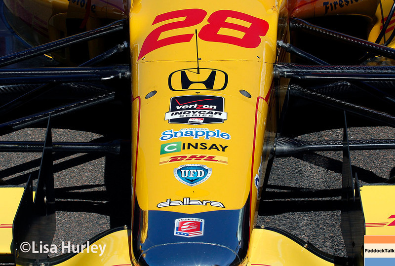 March 30: Ryan Hunter-Reay's car before the Firestone Grand Prix of St. Petersburg Verizon IndyCar series race.