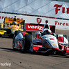 March 30: Juan Montoya and Ryan Hunter-Reay during the Firestone Grand Prix of St. Petersburg Verizon IndyCar series race.