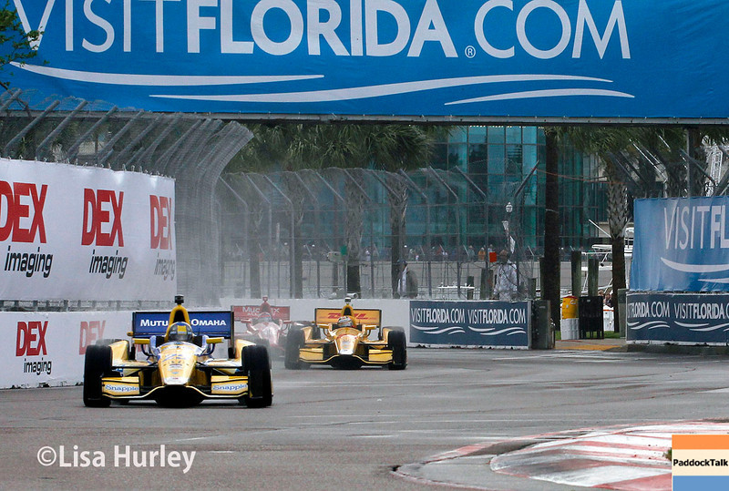 March 29:  Track action during Verizon IndyCar series qualifying for the Firestone Grand Prix of St. Petersburg.