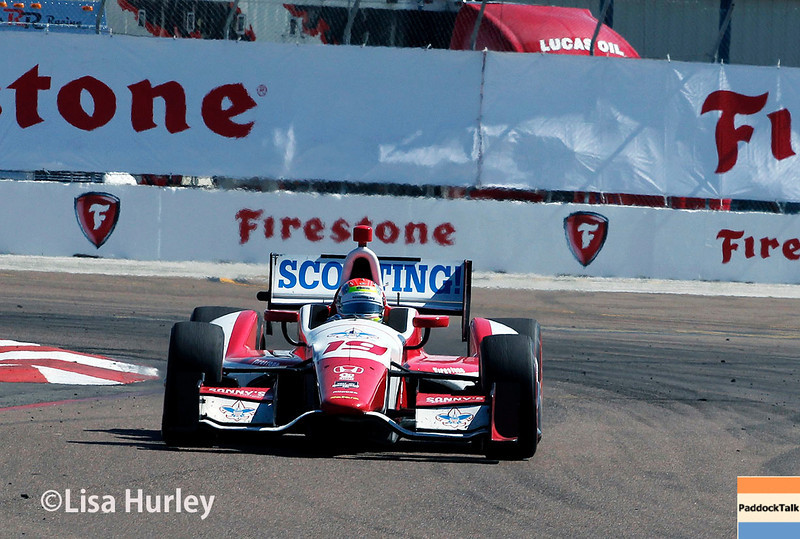 March 30: Justin Wilson during the Firestone Grand Prix of St. Petersburg Verizon IndyCar series race.