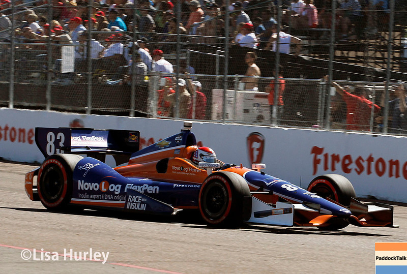 March 30: Charlie Kimball during the Firestone Grand Prix of St. Petersburg Verizon IndyCar series race.
