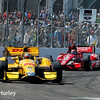 March 30: Ryan Hunter-Reay and Tony Kanaan during the Firestone Grand Prix of St. Petersburg Verizon IndyCar series race.