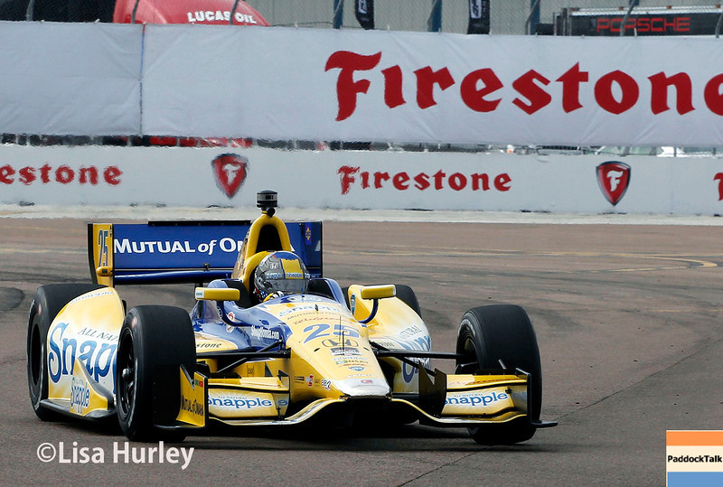 March 28:  Marco Andretti during Verizon IndyCar series practice for the Firestone Grand Prix of St. Petersburg.