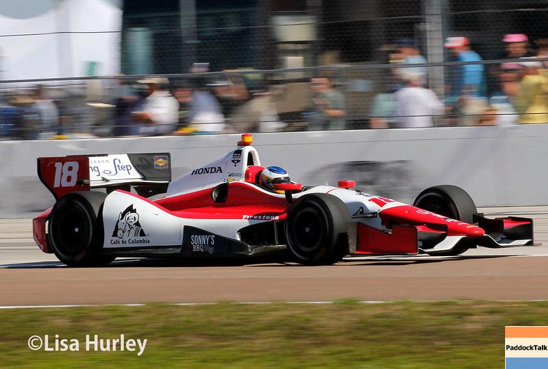 March 30: Carlos Huertas during the Firestone Grand Prix of St. Petersburg Verizon IndyCar series race.
