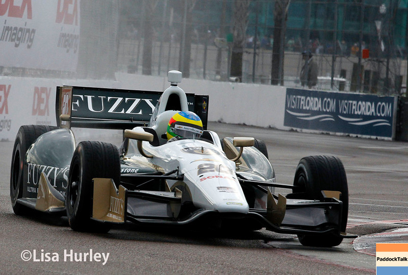 March 29:  Mike Conway during Verizon IndyCar series qualifying for the Firestone Grand Prix of St. Petersburg.