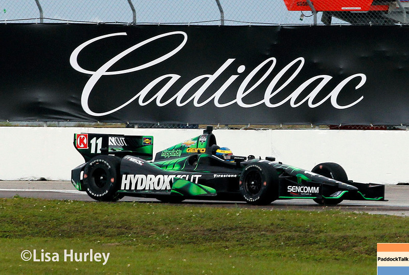 March 29: Sebastien Bourdais during Verizon IndyCar series qualifying for the Firestone Grand Prix of St. Petersburg.