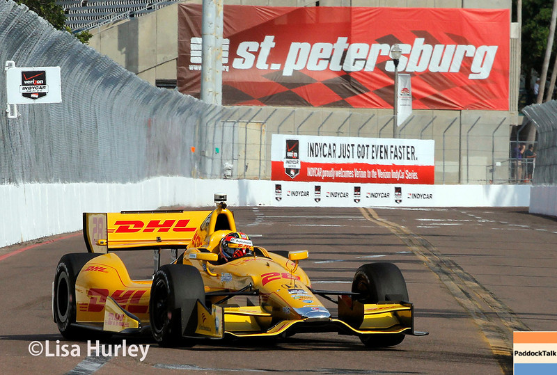 March 28:  Ryan Hunter-Reay during Verizon IndyCar series practice for the Firestone Grand Prix of St. Petersburg.