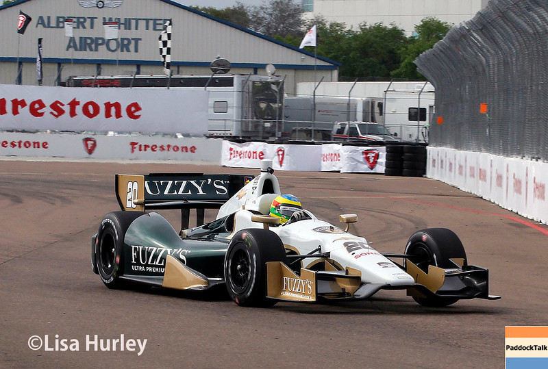 March 28:  Mike Coway during Verizon IndyCar series practice for the Firestone Grand Prix of St. Petersburg.