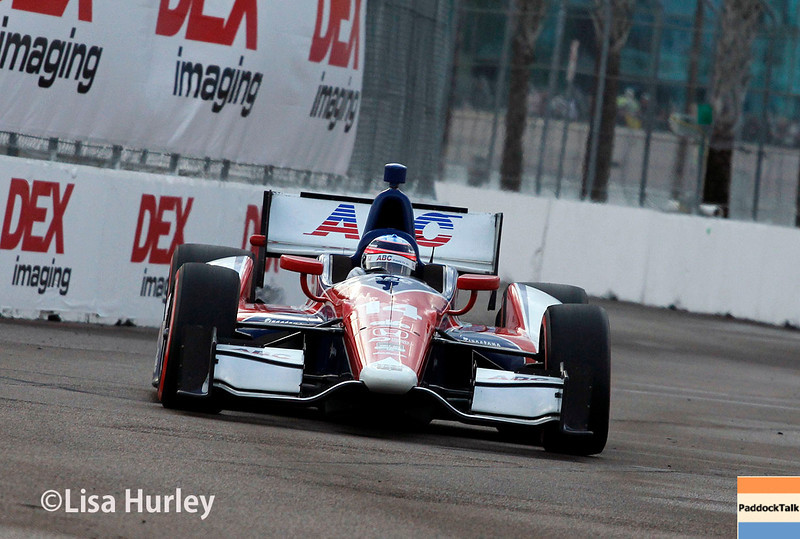 March 29: Takuma Sato during Verizon IndyCar series qualifying for the Firestone Grand Prix of St. Petersburg.