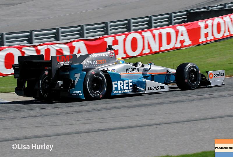 April 26: James Jakes during the Honda Indy Grand Prix of Alabama.