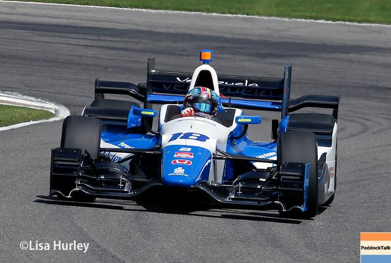 April 26: Rodolfo Gonzalez during the Honda Indy Grand Prix of Alabama.