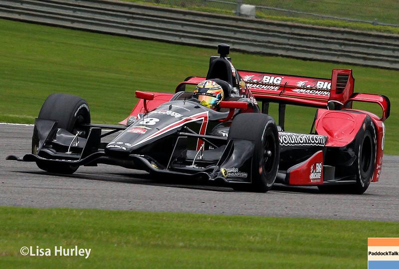 April 25: Sage Karam during practice and qualifying for the Honda Indy Grand Prix of Alabama.