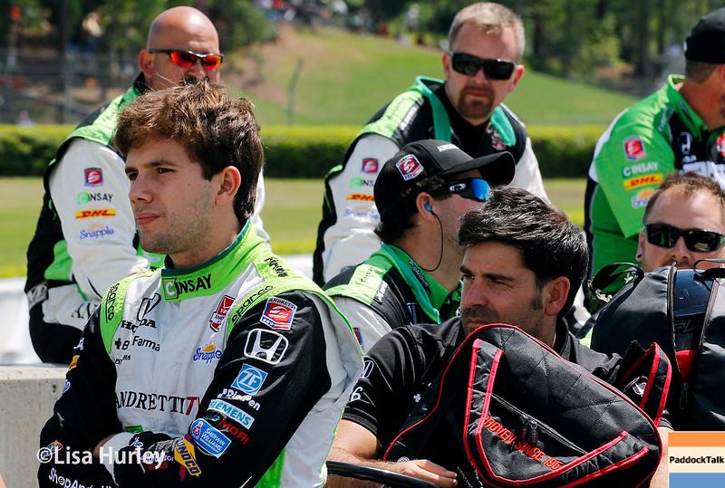 April 26:  Carlos Munoz before the Honda Indy Grand Prix of Alabama.