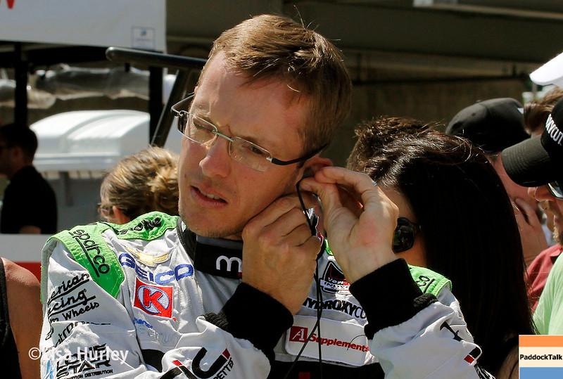 April 26:  Sebastien Bourdais before the Honda Indy Grand Prix of Alabama.